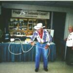 "Legendary showman/cowboy/soldier/American hero "" Hub"" Hubbell visited…. With roping tricks as always!"